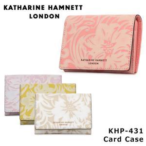 キャサリンハムネット KATHARINE HAMNETT カードケース 431 ナデシコ  名刺入れ レディース レザー  [PO10]|サックスバーPayPayモール店