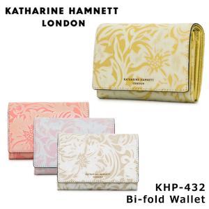 キャサリンハムネット KATHARINE HAMNETT 二つ折り財布 432 ナデシコ  財布 レディース レザー  [PO10]|サックスバーPayPayモール店