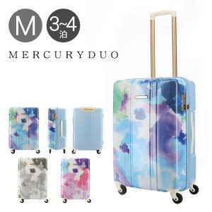 24d31d74cb マーキュリーデュオ スーツケース 50L 55cm 3.4kg ファスナー レディース MD-0793-55 MERCURYDUO | キャリーケース  TSAロック搭載 かわいい 水彩 柄 [PO5]