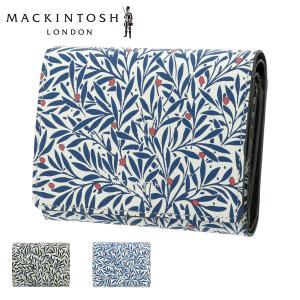 マッキントッシュ ロンドン 三つ折り財布 ガーデン レディース 5060014 MACKINTOSH LONDON | ミニ財布 本革 牛革 ウィリアムモリス|サックスバーPayPayモール店