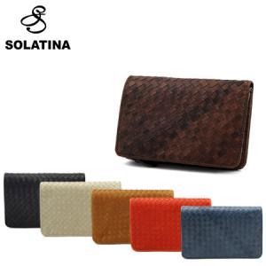 SOLATINA ソラチナ 財布 36092 ホースレザーメッシュ ミドルウォレット 全6色 二つ折...