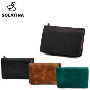 SOLATINA ソラチナ 財布 38151 焦げ加工ホースレザー ミドルウォレット 全4色 二つ折...
