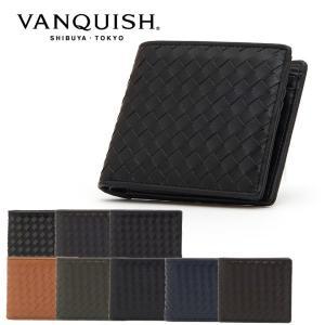 ヴァンキッシュ 二つ折り財布 ラム革編込み VNQ-712020 VANQUISH ウォレット メン...