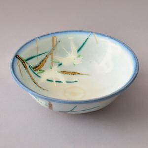 茶碗 茶道具 寺尾 陶象 作 灰釉 鷺草 平茶碗|sadogu-kikuchi