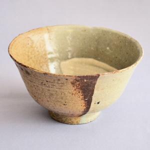 【茶道具 茶碗】伊羅保掛分茶碗  清水 茂生 作 sadogu-kikuchi