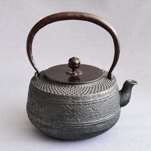 鉄瓶 茶道具 肩霰 鉄瓶  sadogu-kikuchi