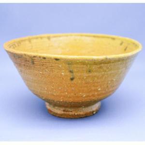 茶道具 茶碗 宗正 芳明 作 笠間焼 黄伊羅保 茶碗|sadogu-kikuchi