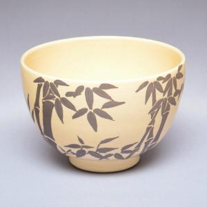 茶碗 茶道具 田中 寿宝 作 仁清写 銀竹 茶碗|sadogu-kikuchi