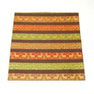 出帛紗 正絹 段羊葡萄紋 金襴 茶道具 sadogu-kikuchi