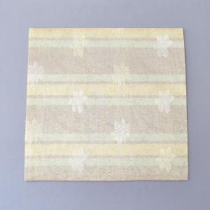 出帛紗 正絹 蔓牡丹紋 紗 茶道具