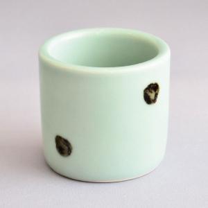 蓋置 茶道具 清宝窯 飛青磁蓋置|sadogu-kikuchi