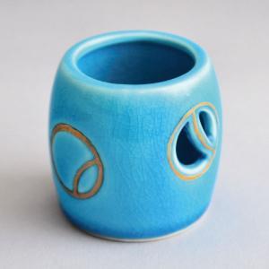 蓋置 茶道具 西尾瑞豊 作 浅黄釉 壺々蓋置|sadogu-kikuchi