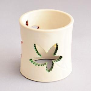 蓋置 茶道具 山本一如 作 白交趾 楓透蓋置|sadogu-kikuchi