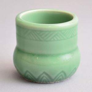蓋置 茶道具 清宝窯 青磁蓋置|sadogu-kikuchi