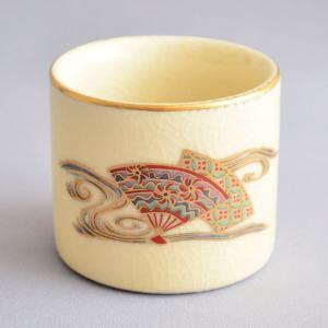 蓋置 茶道具 仁清扇流し蓋置|sadogu-kikuchi
