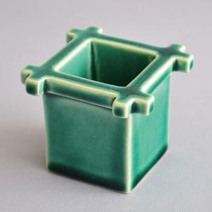 蓋置 茶道具 西尾瑞豊 作 青釉井戸蓋置|sadogu-kikuchi