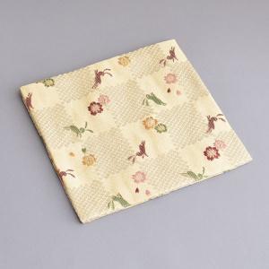 古帛紗 化繊交織 桜に兎文 茶道具|sadogu-kikuchi