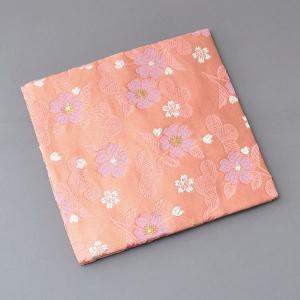 古帛紗 化繊交織 松に桜文 茶道具|sadogu-kikuchi