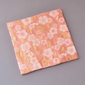 古帛紗 化繊交織 梅に兎文 茶道具|sadogu-kikuchi
