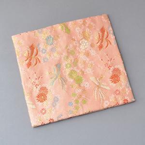 古帛紗 化繊交織 花に鳳凰文 茶道具|sadogu-kikuchi