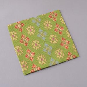 古帛紗 正絹 天平双華文(緑) 龍村美術織物 茶道具|sadogu-kikuchi