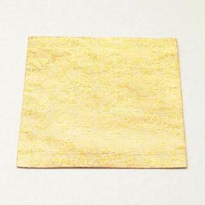古帛紗 正絹 東山御物名物裂 金地 鉄線紋 金襴 茶道具|sadogu-kikuchi