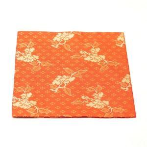 古帛紗 正絹 唐花紋 緞子 茶道具|sadogu-kikuchi