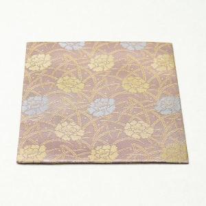 古帛紗 正絹 露芝牡丹紋 銀襴 茶道具|sadogu-kikuchi