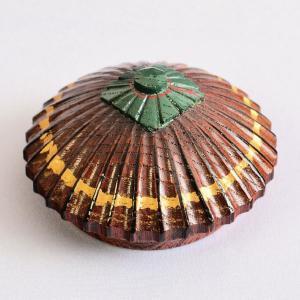 香合 茶道具 石津外記 作 欅 唐傘香合(木製・摺漆)|sadogu-kikuchi