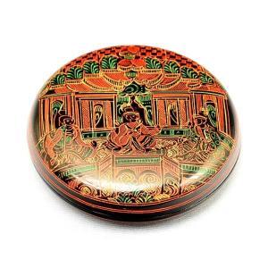 香合 茶道具 キンマ 仏画 香合(木製・本漆・タイ製)|sadogu-kikuchi