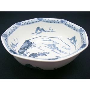 【茶道具 菓子器】雪峰窯 染付山水菓子鉢|sadogu-kikuchi