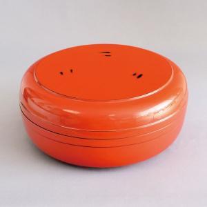 菓子鉢 茶道具 木製 根来塗 丸形帯付喰籠|sadogu-kikuchi