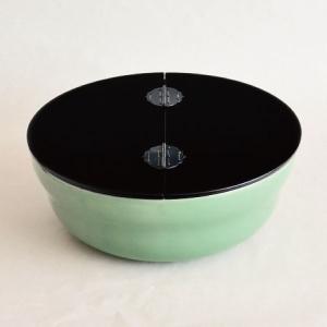 水指 茶道具 石崎靖典 作 高麗青磁平水指 真塗割蓋|sadogu-kikuchi