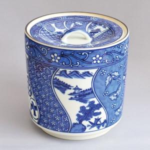 水指 茶道具 哲山堂 染付丸紋水指 sadogu-kikuchi