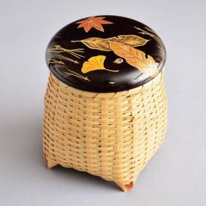 茶道具 棗 西村宗幸 作 溜塗 吹寄蒔絵 籠茶器 蓋裏 栗蒔絵 木製・本漆塗 sadogu-kikuchi