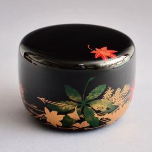 茶道具 棗 筑城筑良作 吹寄せ蒔絵平棗 木製・本漆塗・切合口 sadogu-kikuchi