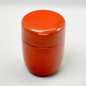 【茶道具 棗】海田雅孝 作 根来茶器(木製・本漆)|sadogu-kikuchi