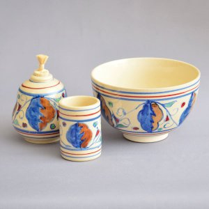【茶道具 茶箱】加藤昌山 作 茶箱用オランダ茶碗3点セット|sadogu-kikuchi