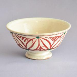 茶碗 茶道具 萬古焼 八幡窯 赤絵茶碗 sadogu-kikuchi