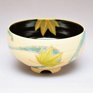 茶碗 茶道具 今岡 三四郎 作 楓に流水 茶碗|sadogu-kikuchi