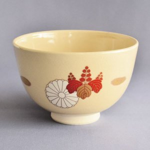 茶碗 茶道具 加藤寛山 作 御本手 赤絵笹茶碗|sadogu-kikuchi
