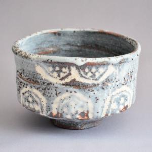 茶碗 茶道具 田中源彦 作 山端写 鼠志野茶碗|sadogu-kikuchi