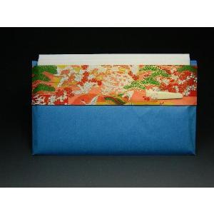 お茶会 友禅紙の袋入懐紙 【青】 菓子切ようじ付き 女性用 茶道具 sadogu-nanakusa
