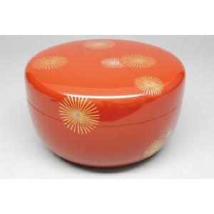 喰籠(菓子器) 木質 朱塗喰篭 唐松 茶道具|sadogu-nanakusa