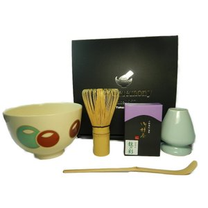 茶道具 抹茶セット(4点) 銀杏・渦・新高台寺・壺々 sadogu-nanakusa