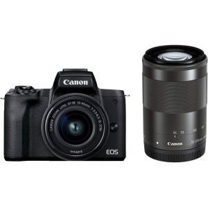 キヤノン(Canon) ミラーレス一眼 EOS Kiss M2 ダブルズームキット ブラック