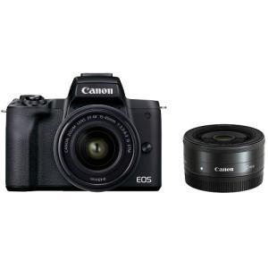 キヤノン(Canon) ミラーレス一眼 EOS Kiss M2 ダブルレンズキット ブラック