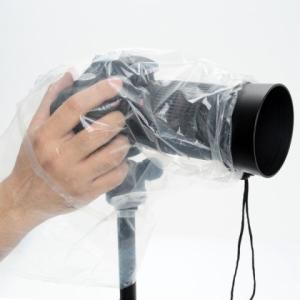 【ネコポス便配送・送料無料】エツミ カメラレインカバー簡易型S(ミラーレス・小型一眼用) 2枚入り E-6668|saedaonline