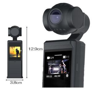 動画撮影 ジンバル 4K 3軸スタビライザー搭載カメラ アクションカメラ 小型 軽量 コンパクト ポ...