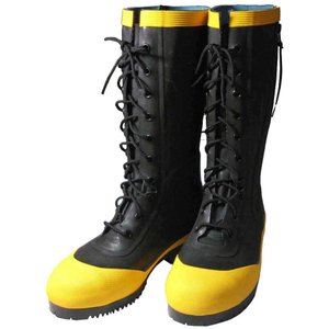 (消防/操法/消防団)ケブラー入りゴム編上げ長靴(24.5〜28.0サイズ)|safety-japan